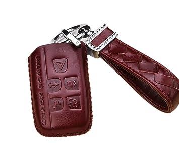 Cuir véritable Coque Housse Support Coque clé télécommande de voiture avec  diamant tressé Porte-clés cac81746596