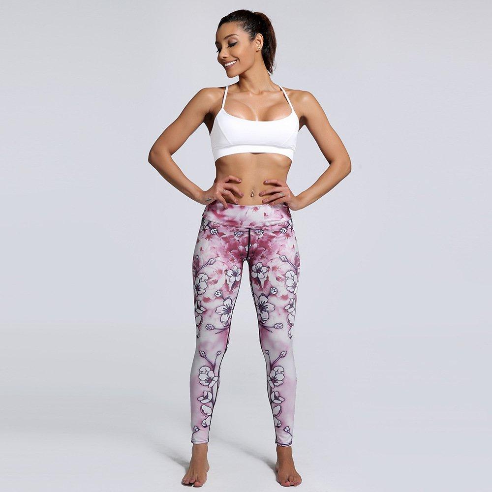MAOYYMYJK Purpurrote Blaue Steigung-Unregelmäßige Damen-Dünne Sport-Verband-Yoga-Tanzhose Yoga-Hose für Damen