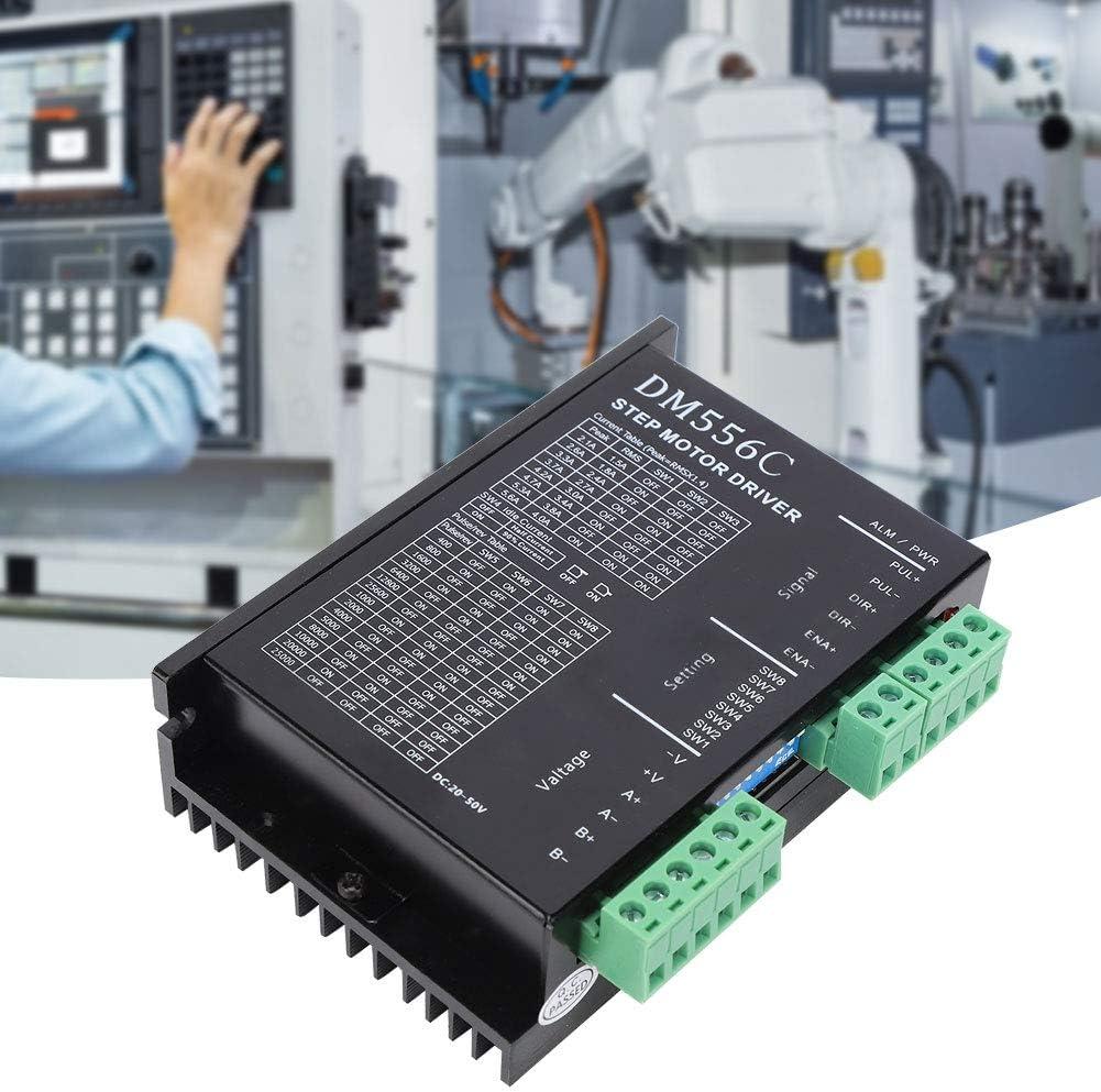 Hilitand Controlador Paso a Paso DM556C Controlador del Motor Controlador CNC Tablero de Controles del Motor: Amazon.es: Hogar