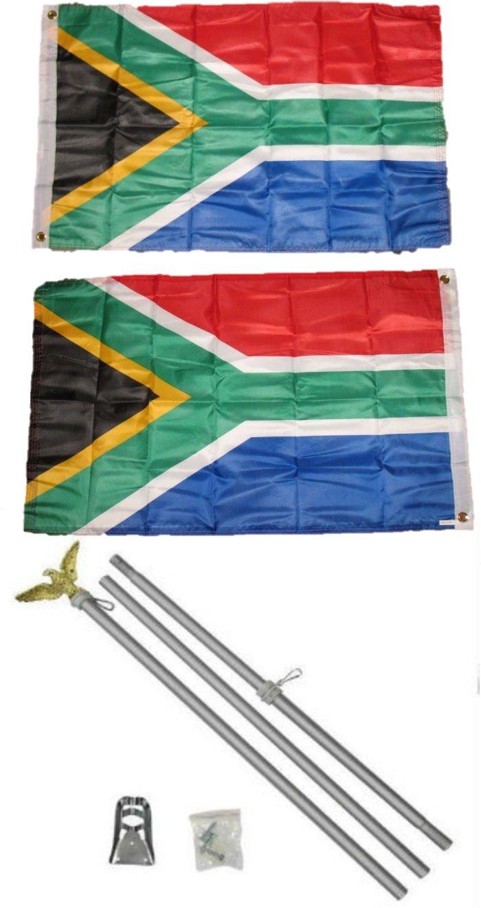 【現金特価】 2 x x 3 2 ' x3 ' South 2 2 Africa両面2ply国旗アルミニウムポールキット B01NCQN340, 国内最安値!:46cd1d0f --- tadevakaryam.com
