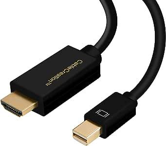 DP a HDMI, cable Creación (DP1.2) Activo Mini DisplayPort a HDMI, DP a HDMI, 4K X 2K 3D y audio/video, soporte Eyefinity multi-pantalla, Negro (6 pies / 1,8 m)