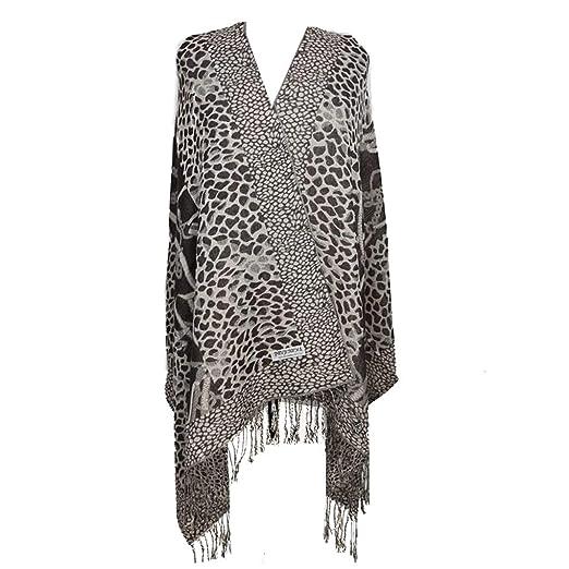 Silver Fever Pashmina-Leopard Animal Print Shawl- Stylish Soft Scarf Wrap ( Black Beige c5dec9081