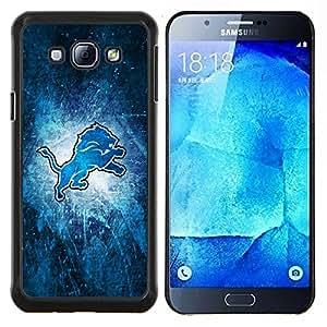 León- Metal de aluminio y de plástico duro Caja del teléfono - Negro - Samsung Galaxy A8 / SM-A800