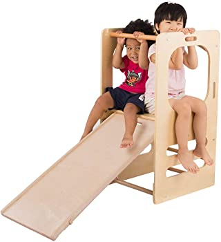Cassaro Play Tower, Slide And Chalkboard Climbing Toy