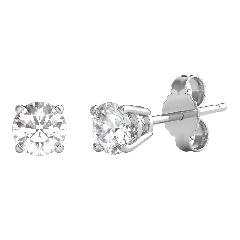 Helzberg Diamonds 14K White Gold 3/8 cttw Round Diamond (H-I, I2) Stud Earrings by Helzberg Diamonds (Image #1)