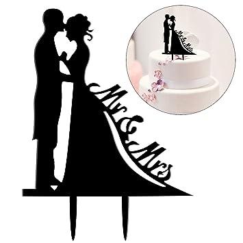 Healifty Hochzeitspaar Brautpaar Mr Und Mrs Kuchen Topper Fur