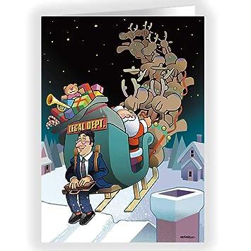 Amazon Com Lawyer Theme Christmas Card 18 Attorney Cards