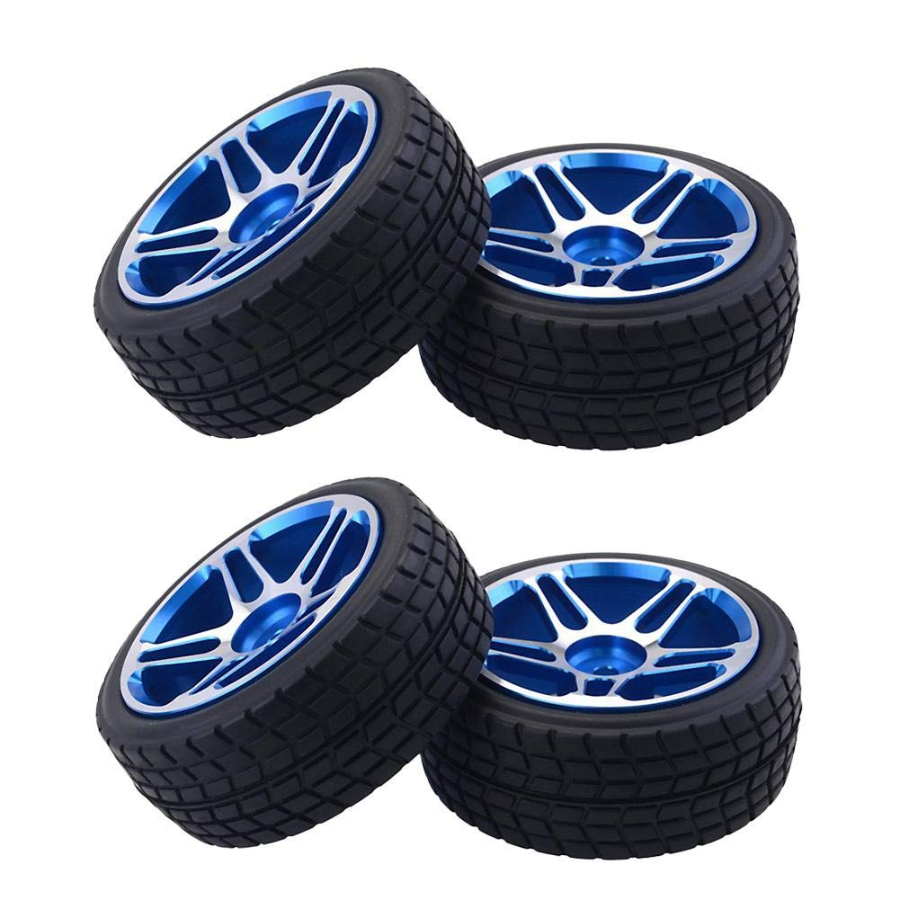 Lijuan Qin 1/10 Universal Tire RC Wheel Tires On-Road Car Tourning Car for Redcat/HPI/Hobbyking/Losi/LRP Toys Vehicle Parts RC Vehicle Tires by Lijuan Qin