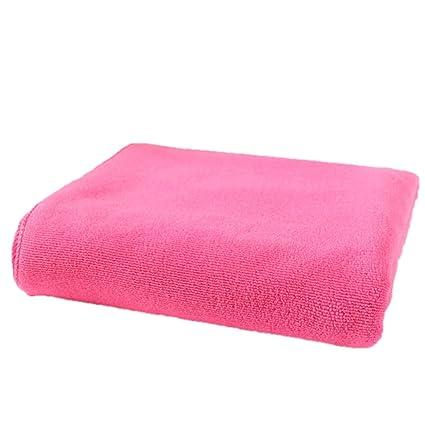 Microfibra toalla de pelo Secar Toalla de mano suave toalla turbante Toallas de cara, rosa