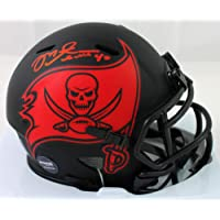 $125 » Mike Alstott Autographed Tampa Bay Bucs Eclipse Speed Mini Helmet - Beckett W Auth Red