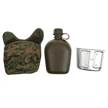 Botella Deportiva De Agua Taza Cantina Militar Al Aire Libre del Ejército Acampar Bolsa - Jungle, 1L: Amazon.es: Deportes y aire libre