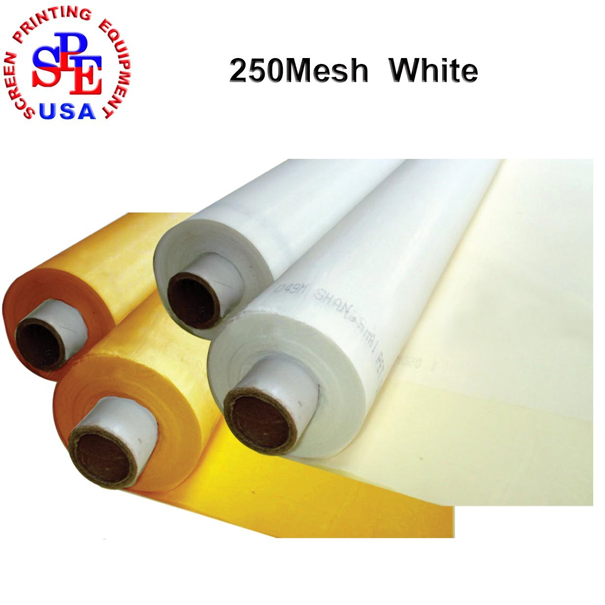 1 Roll(40yards)Screen Printing Mesh Fabric 50Inches(1.27m) Width Silk Screen Printing (250mesh White) by Screen Printing Consumables
