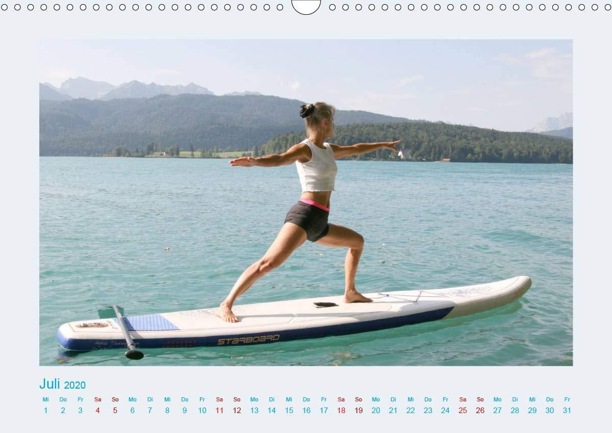 Faszination Yoga - SUP Wandkalender 2020 DIN A3 quer : Yoga ...