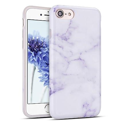 Mosoris Funda iPhone 7/8, Marble Mármol Suave TPU Silicone Carcasa Goma Case Ultra Delgado Flexible Gel Caso Anti-Rasguños Patrón Granito Tapa Anti ...