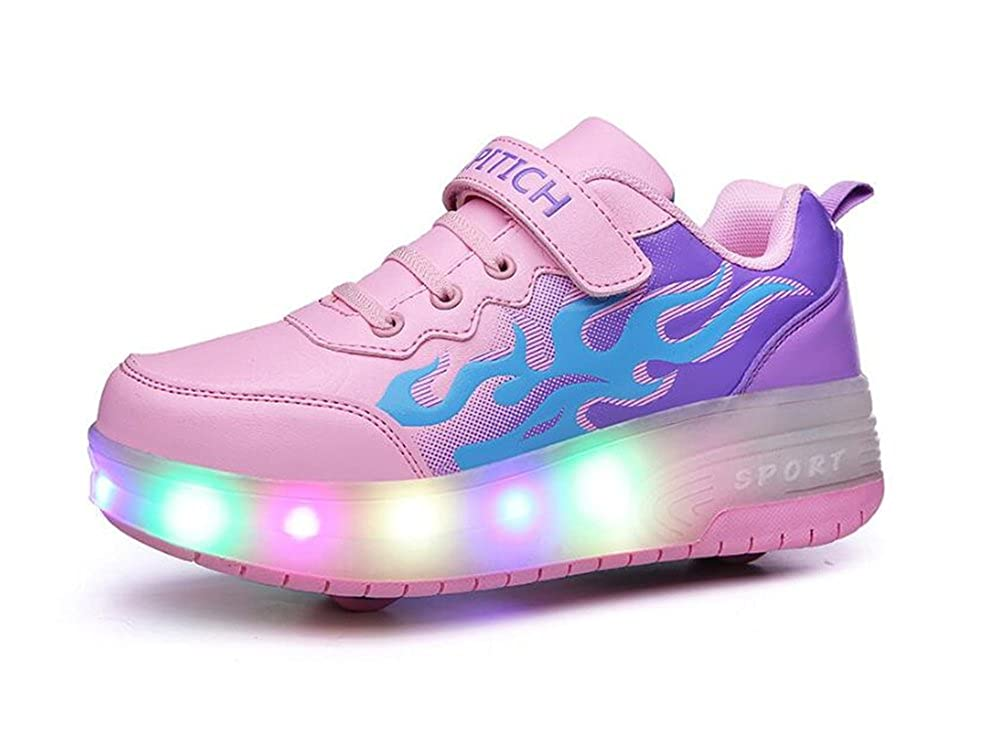 Unisex Boys Girls LED Light up Single Wheel Double Wheel Shoes Roller Shoes Roller Sneakers