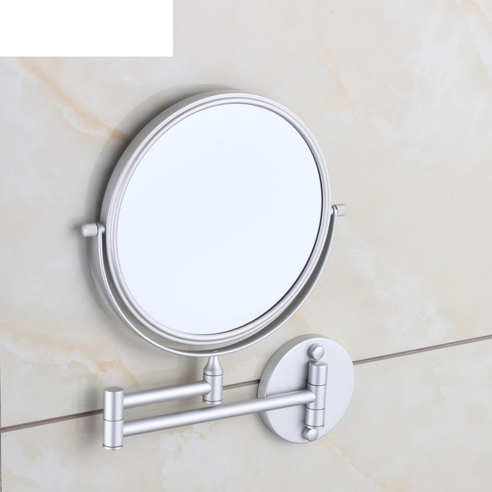 best cosmetic mirror/wall-mounted bathroom cosmetic mirror/ folding telescopic mirror/ double-sided magnified mirror