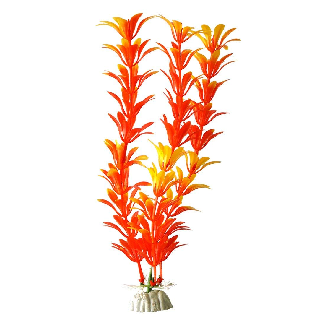 2 Pcs 11.4  Green Red Emulational Aquatic Plant Grass for Fish Tank