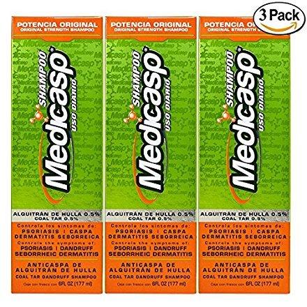 Medicasp Coal Tar Gel Dandruff Shampoo to Treat Seborrheic Dermatitis Psoriasis 3 Pack 6 oz by Mediscap