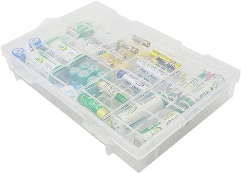 PIXNOR Caja de almacenaje soporte de batería plástico duro para AA ...