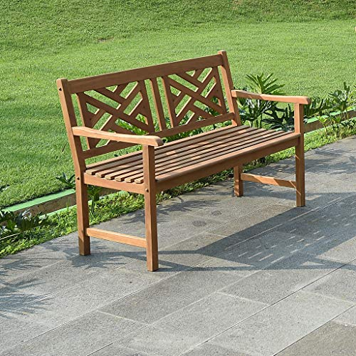 (Cambridge-Casual AMZ-140790T Maine Garden Bench, Natural Teak)