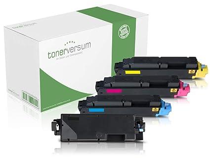 4 Tóner versum – Tóner Compatible con Kyocera TK 5270 (Negro, Cian ...