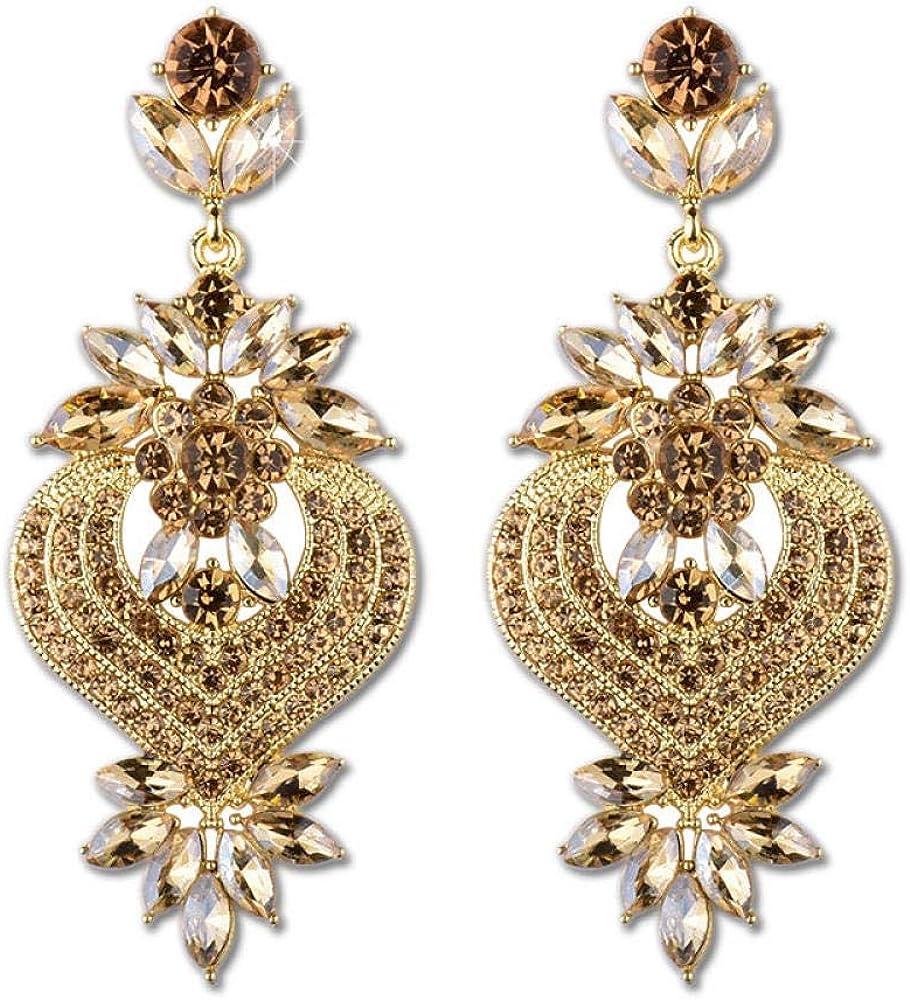 Pendientes retros colgantes, Pendientes de perlas, Regalo para el Día de la madre,Pendientes de diamantes de piedras preciosas multicolores pendientes