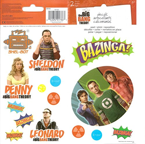 Sandylion Big Bang Theory Decals for Scrapbooking, 4 by 8.5-Inch
