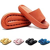 sohefia Home Slippers for Women and Men, 4cm Thick Pillow Slides Super Soft Cloud Slippers