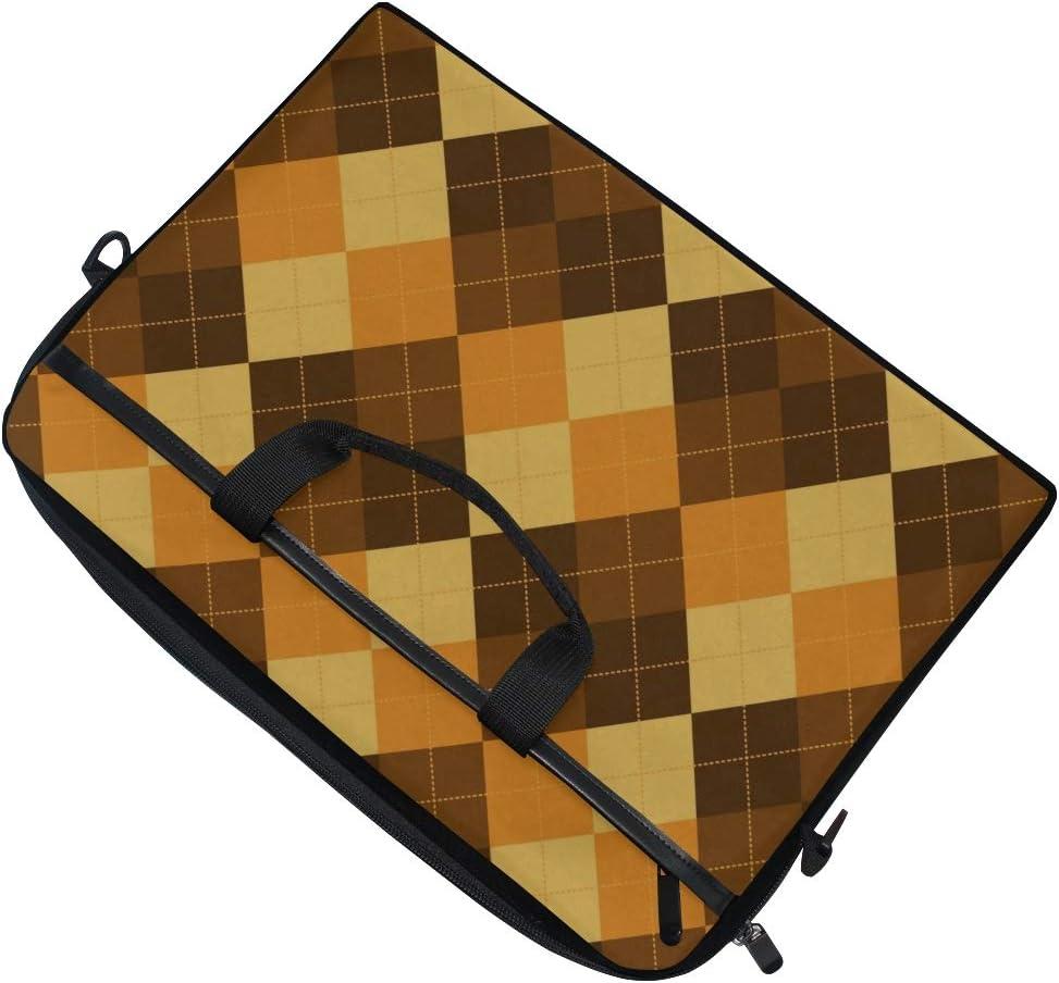 College Students Business People Office Workers Laptop Bag Argyle Pattern Diamond Shapes 15-15.4 Inch Laptop Case Briefcase Messenger Shoulder Bag for Men Women