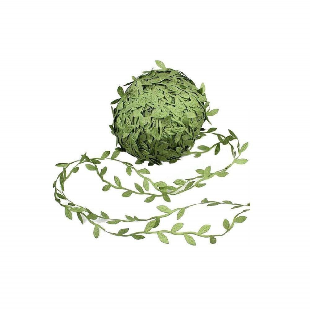 Nerseki 252 Ft Artificial Hanging Green Ribbons Leaves for DIY Foliage Rattan Wreath Foliage Party Home Wall Wedding Decor