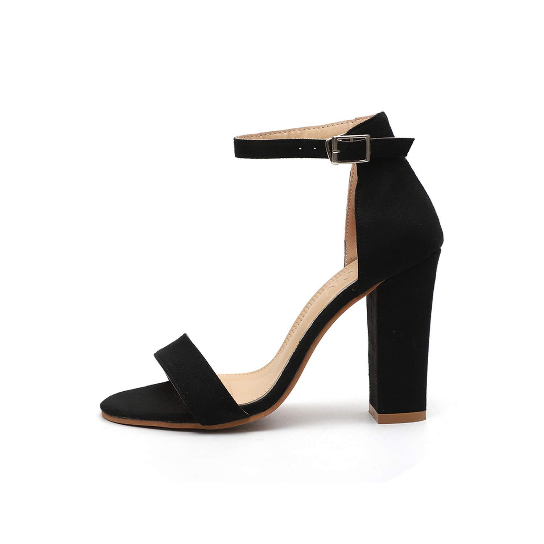 Black LAIGEDANZI Pumps Heels Sandals for Women Summer shoes Wedding Heels