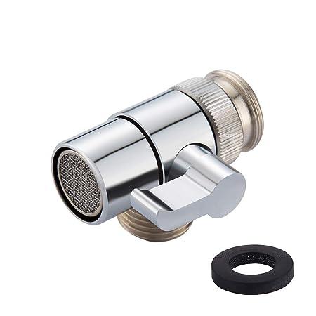 Tecmolog Brass Diverter For Kitchen Sink Faucet Or Bathroom Sink