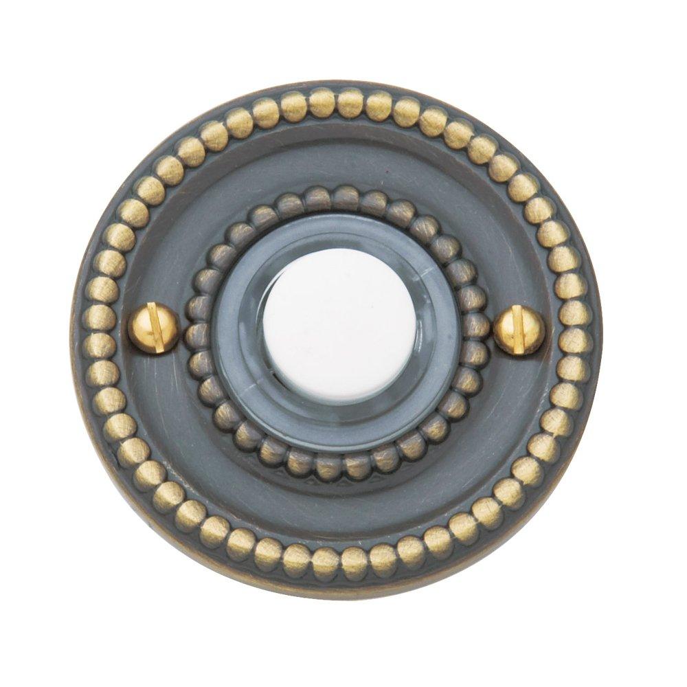 Baldwin Estate 4850.050 Beaded Door Bell Button in Satin Brass, 1.75'' Diameter