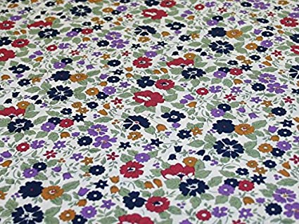 Image Unavailable. Image not available for. Colour  Navy Raspberry Floral  Liberty Print Cotton Lawn Designer Dress Fabric - per metre 5d63d8af4