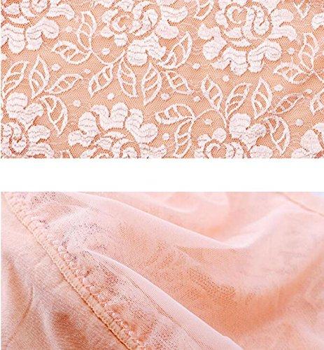 4 Pantalones Paquete De Ropa Interior Atractiva De La Mujer De La Tentación De Encaje Transparente Rastro De Seguridad De La Cadera Abdomen De La Alta Cintura De La Ropa Interior A1