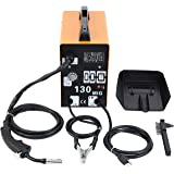 MIG 130 Welder Flux Core Wire Automatic Feed Welding Machine AC Core Welding Wire w/Mask Kit - 110v
