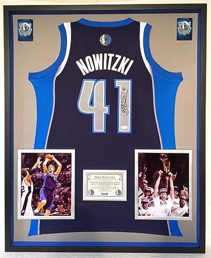 512a9dda3000e Premium Framed Dirk Nowitzki Signed Autograph Dallas Mavericks ...