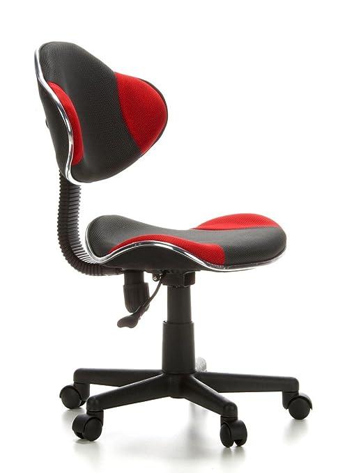 hjh office kiddy gti silla de escritorio para nios color gris y rojo amazones hogar