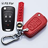 RPKEY Leather Keyless Entry Remote Control Key Fob Cover Case protector For Buick Enclave LaCrosse Regal Verano Chevrolet Camaro Cruze Equinox Impala Malibu Sonic GMC Terrain OHT01060512 13504200 ASD