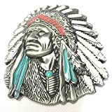 Used Indian Motorcycles Best Deals - 3d Native American Old West Indian Warrior Chief Belt Buckle Biker Motorcycle Vintage Silver