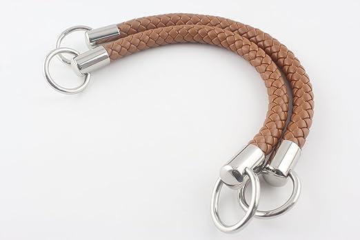 Asas para bolso de mano de 30,5 cm, de piel sintética, para hacer bolsos, hacer monederos, reemplazar asas, un par (2 piezas) por lote Nickel hardware ...