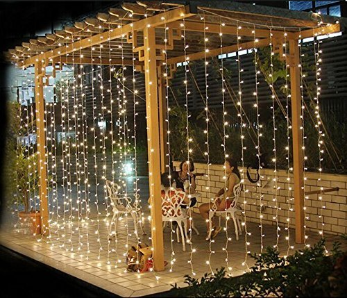 Lightess 300 LED Christmas String Fairy Outdoor or Indoor Cu