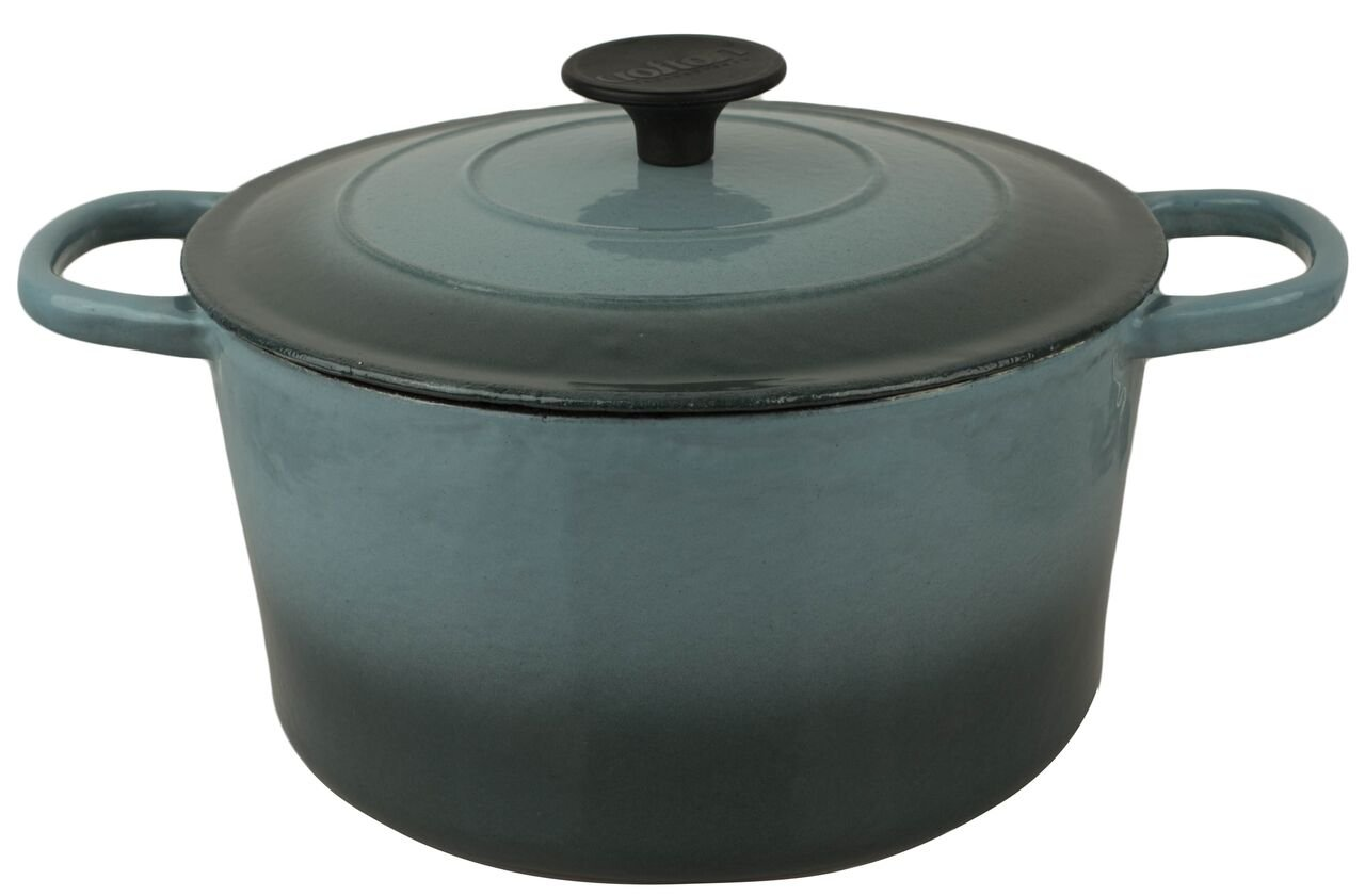 Crofton Professional Enameled Cast Iron 4 Liter Dutch Oven (Green)