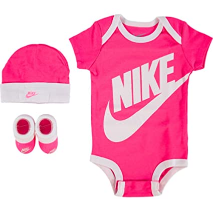 d26160b249877f Nike Baby Mädchen Girls Set Cap Booties Hat Pink Weiß 0-6 Monate Neu ...