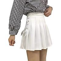FYMNSI Women High Waist Pleated Tennis Mini Short Skirts Solid Sports Gymnastic Dance Wear Summer School Uniform Skorts
