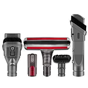 ARyee Replacement Attachments Tools Kit for Dyson V6 V7 V8 V10 DC24 DC33 DC35 DC39 DC44 DC58 DC59 DC62 DC74, Dyson Cordless Vacuum Accessories (Brush Kit)