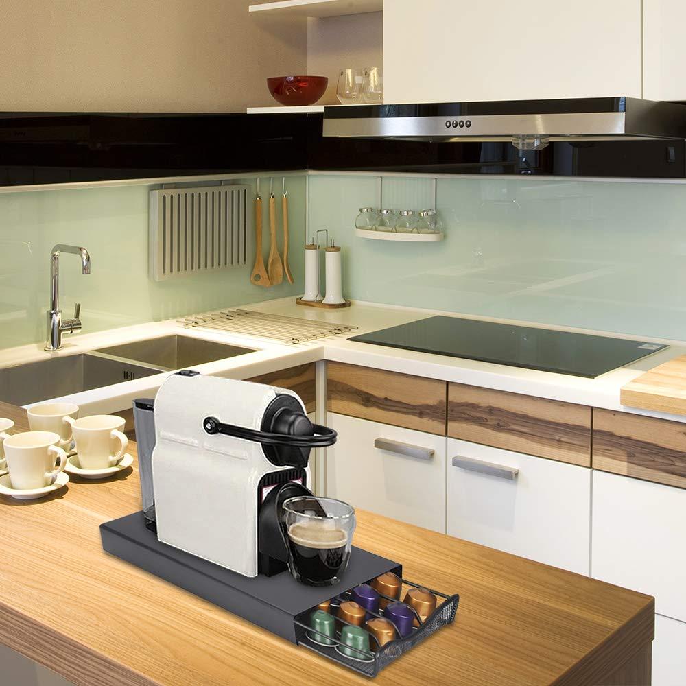 TiooDre Coffee Pod Holder 40 C/ápsulas Caj/ón De Soporte Apilable Para Nespresso