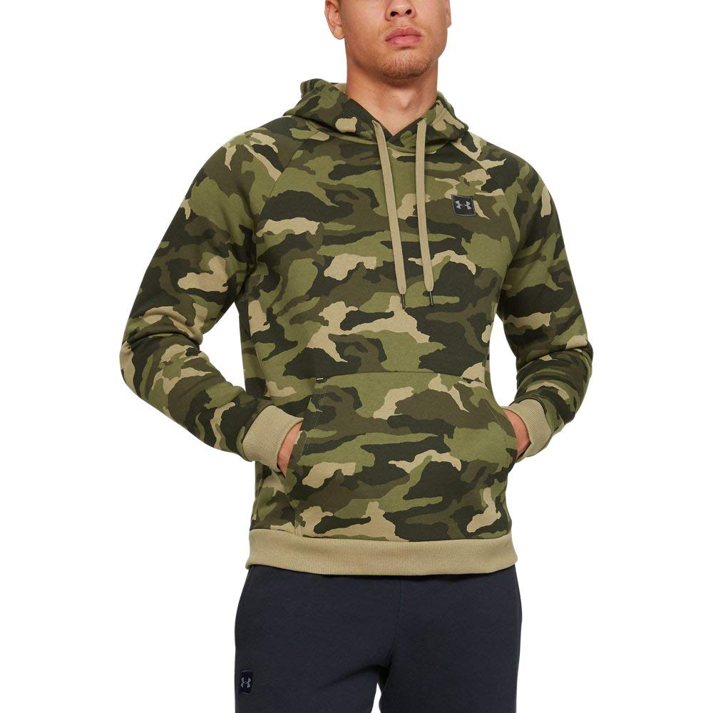 Under Armour UA Rival Fleece Camo LG Outpost Green by Under Armour