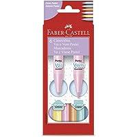 Canetinha Vai e Vem Pastel 6 Cores, Faber-Castell, 15.0906VVZF, Multicor