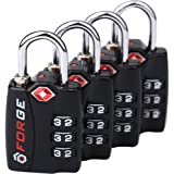 TSA Approved Luggage Locks, Alloy Body, Red Indicator, 1, 2 & 4 Pack